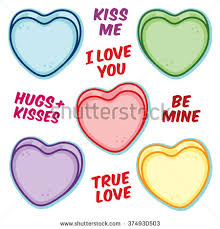 valentines heart candy sayings candy hearts stock images royalty free images vectors
