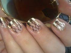 minx nails chrome u0026 chrome with black circles nails