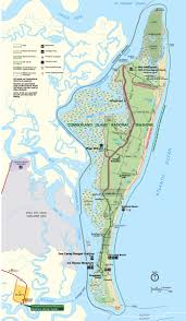Georgia River Map Cumberland Island National Seashore Georgia National Park