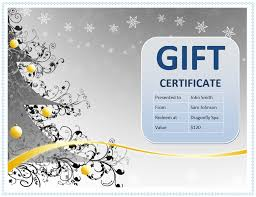 100 word gift certificate template free profile format