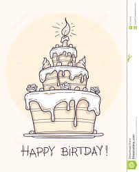 greeting card with big birthday cake stock vector image 67144446