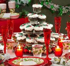 christmas party table decorations christmas party table decoration ideas free design templates