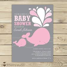 whale baby shower invitations girl whale baby shower invitation printable pink and gray baby