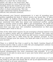 funeral pre planning pre plan