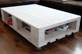 Coffee Table Out Of Pallets by Euro Pallet Coffee Table With Wheels Pallet Furniture