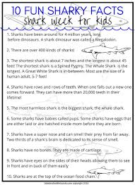 shark week activities and stem projects for kids