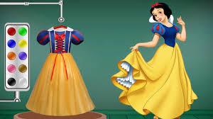 learn colors disney princess snow white dress colors