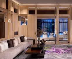 lobby library of the four seasons kyoto by hba design four