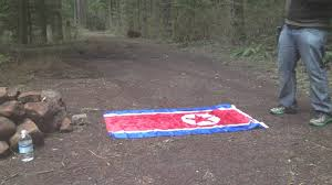Flag Burning Legal Burning North Korean Flag Youtube