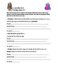 romeo and juliet vocabulary worksheets worksheets