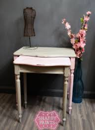 shabby chic nesting tables get new life shabby paints
