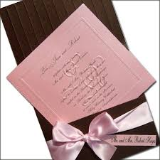 Pink Wedding Invitations Chocolate And Pink Wedding Invitations Cherry Marry