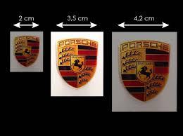 stuttgart porsche logo porsche crest 3d sticker 4 5 x 3 5 cm selection rs