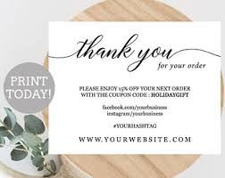 business thank you cards business thank you etsy