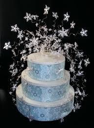 snowflake cake topper winter wedding cake topper with snowflakes ipunya