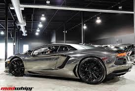Lamborghini Aventador All Black - black chrome lambo aventador madwhips