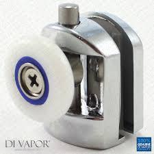 bottom metal single shower door roller 6mm to 8mm glass 24mm