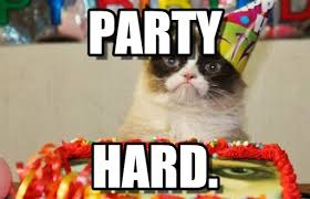 Cat Birthday Memes - party grumpy cat birthday meme on memegen
