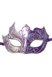 silver masks purple and silver masquerade mask with silver and purple glitter