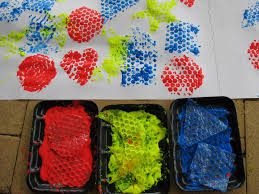 bubble wrap painting learning shapes learning 4 kids