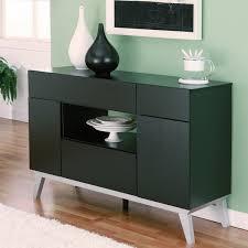 Buffet Furniture Modern by Furniture Of America Miura Modern Multi Storage Black Buffet Table