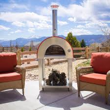 Outdoor Pizza Oven Bella Medio C24 24 Inch Wood Fired Outdoor Pizza Oven On Cart
