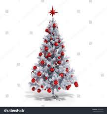 3d Beautiful Christmas Tree Ornaments On Stock Illustration