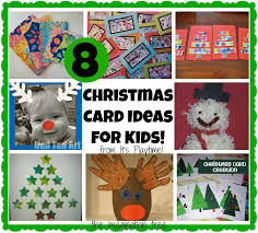 8 christmas cards kids can make it u0027s playtime the imagination