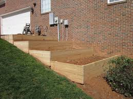 garden beds on a slope home outdoor decoration