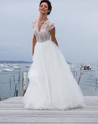 boho wedding dress designers 2017 new designer a line three pieces lace top tulle
