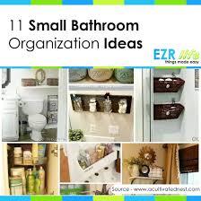 Organizing A Small Bathroom - bathroom