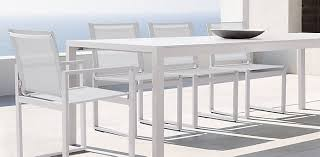 White Patio Dining Set by 10 Easy Pieces White Outdoor Dining Tables Gardenista