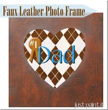 Faux Leather Paint - how to paint faux leather photo frame just paint it blog
