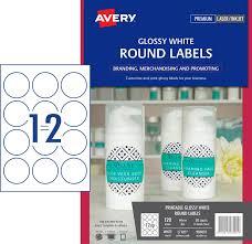 glossy round labels 980001 avery australia