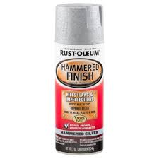 rust oleum automotive 12 oz silver hammered finish spray paint 6