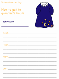 red riding hood informational writing activities