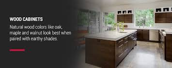 what color compliments gray cabinets how to choose the right wall color to match kitchen cabinets