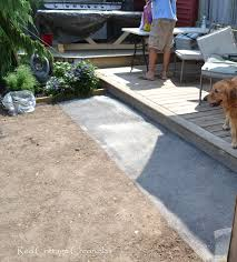 Pea Gravel Concrete Patio by Backyard Makeover Pea Gravel Patio Red Cottage Chronicles