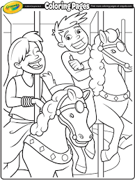 carousel horses coloring page crayola com