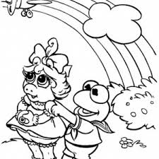 muppets piggy laying pet coloring pages bulk color