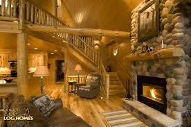 golden eagle log and timber homes log home cabin pictures great room view 3