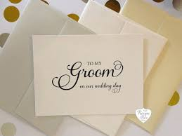 Wedding Day Cards From Groom To Bride To My Groom Card To My Bride On Our Wedding Day Wedding Day