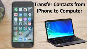 how to transfer contacts from iphone to computer youtube