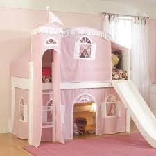 best  low loft beds ideas on pinterest  low loft beds for kids  with fantasy castle tent low loft bed in pink and white  fantasy themed beds at  poshtots from pinterestcom