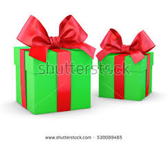 three green gift boxes 3d render stock illustration 511498057