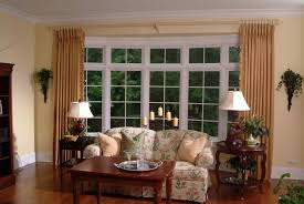 curtain rod for bay window bay window curtain pole ideas brass