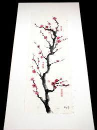 Peinture Cerisier Japonais by Peintures Toile Encre De Chine Zen Japonais Fleur De Cerisier