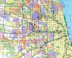 Chicago City Limits Map by Interstate Guide Interstate 355 Illinois