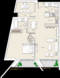 residences 1 bedroom apartment type 2 floor plan