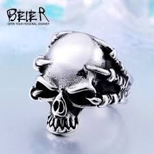classic skeleton ring holder images Jewelry men 39 s gothic punk claw thingking skull skeleton rings br8 jpg